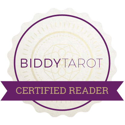 Biddy Tarot Certified Reader logo